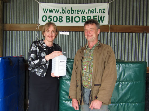 Amy Adams, MP for Selwyn, visited BioBrew's temporary premises in Prebbleton